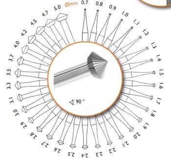 hart burs  bdoppelkegel 6PCS Jewelry Burs Diamond Bearing Cutter Stone Setting Jewelry Making Tools size 0.7-5.0mm 10kg engraver round balls jewelry making tools ring clamp engraving block ball diamond setting vice setting benchmate setter