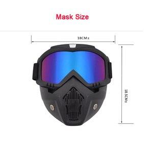 Image 5 - Защитная маска Ретро ветрозащитная Полнолицевая маска для работы на внедорожном шлеме с очками Пылезащитная Противоударная искусственная маска
