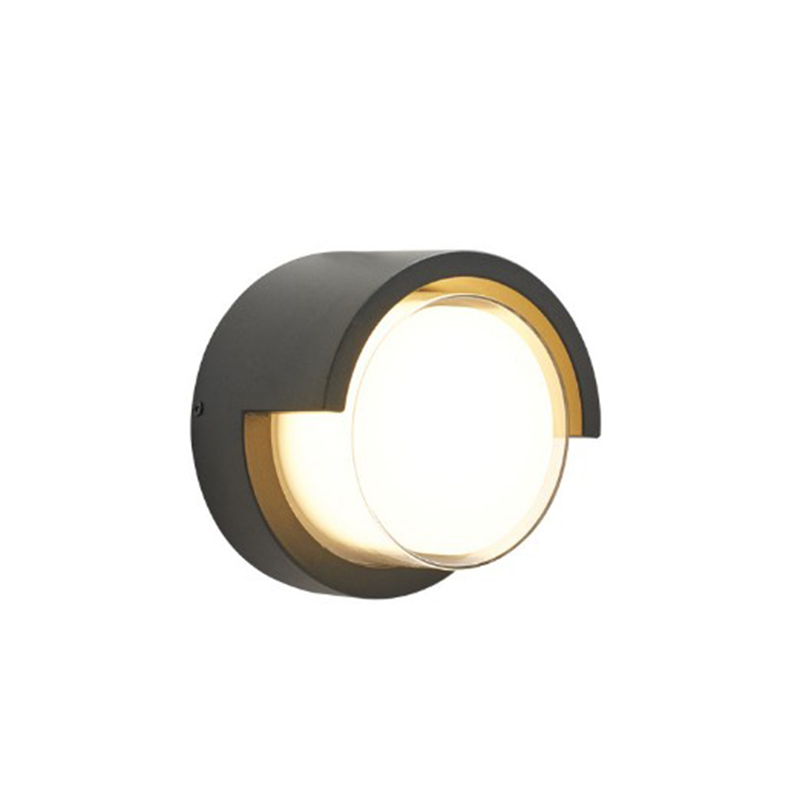 Outdoor Waterproof LED Wall Lamp Modern Minimalist Round Aisle Creative Exterior Wall Sconce For Balcony Garden Light|LED Indoor Wall Lamps| |  - title=