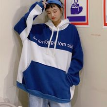40 @ Losse Oversized Hoodies Vrouwen Sweatshirt Warme Winter Brief Print Capuchon Sweater Hooded Trui Top Blouse Толстовка Худи(China)