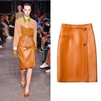 Epidemic Short Skirt 100% Sheepskin Genuine Leather Fashion Real Sheepskin Skirt Female Short High Waist