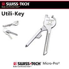 Swiss tech nova edc 6 em 1 utili de aço inoxidável-chave de corrente de bolso cortador chave de fenda multi ferramentas kit sobrevivência acampamento