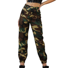 2019 Autumn Fashion Camouflage Pants Women High Waist Slim Fit Camo Cargo Trousers Hip Hop Street Jogger Sweatpants