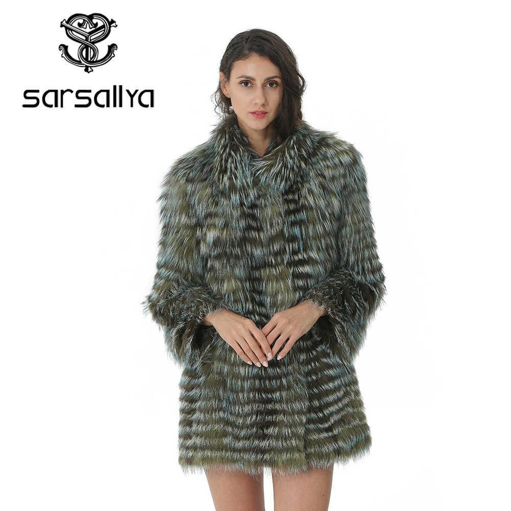 Reale Natürliche Fuchs Pelz Mode Pelz Jacke Für Frauen Winter Outwear Dicke Warme Parkas Luxus Beiläufige Lange Mäntel