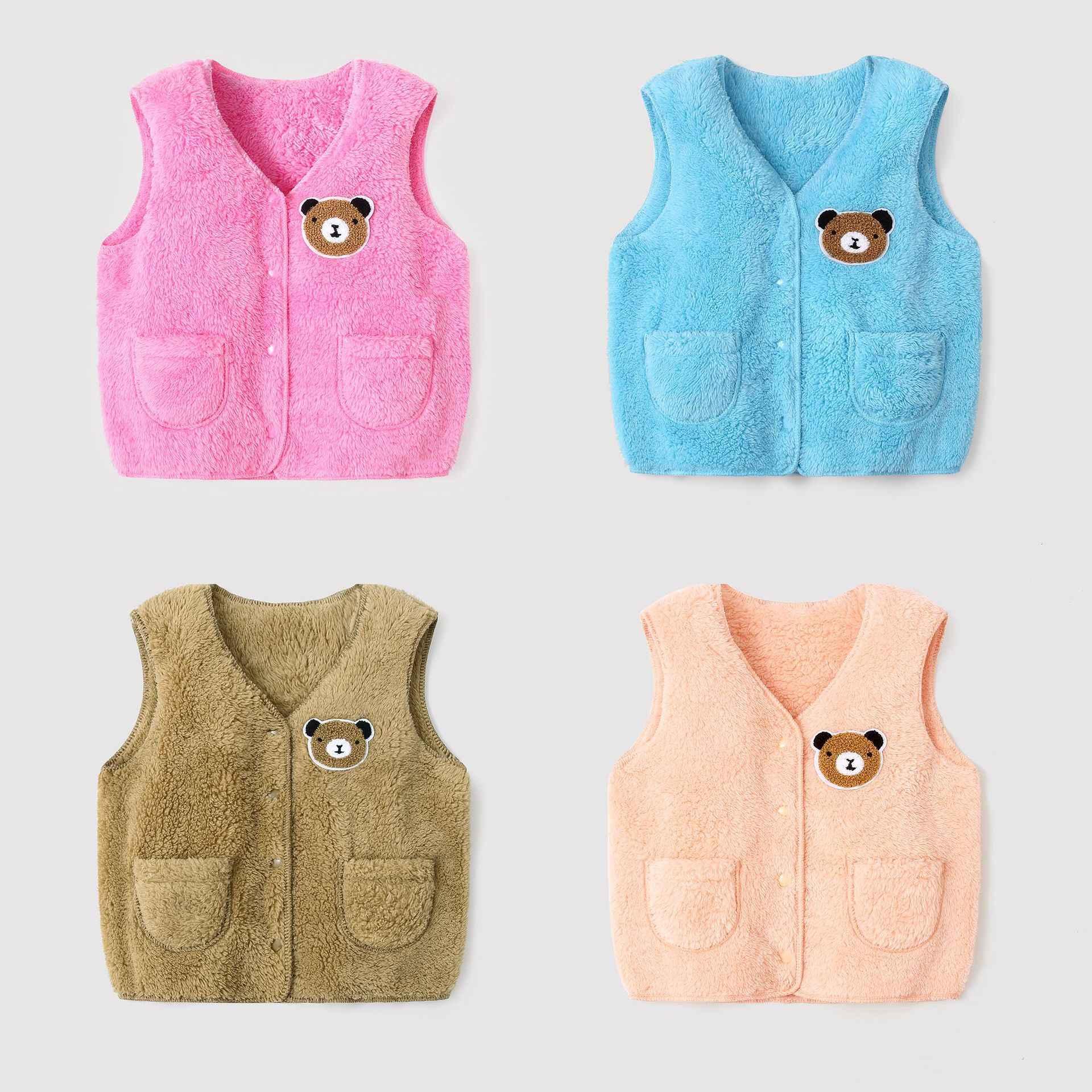 Otoño Invierno niños Chaleco de piel bebé chaleco niños chaleco ligero para niña niño niños ropa exterior chaqueta sin mangas