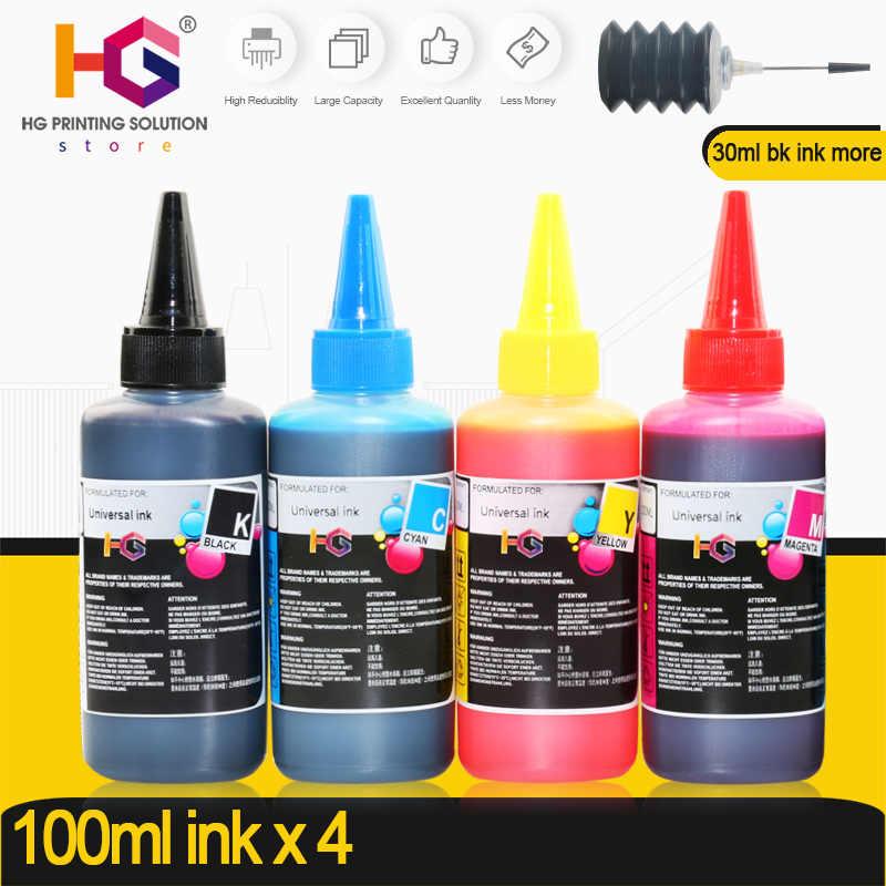 HG Tinta Isi Ulang Kit Untuk Epson untuk Canon untuk HP untuk Printer CISS Tinta Isi Ulang Printer Tinta Dye