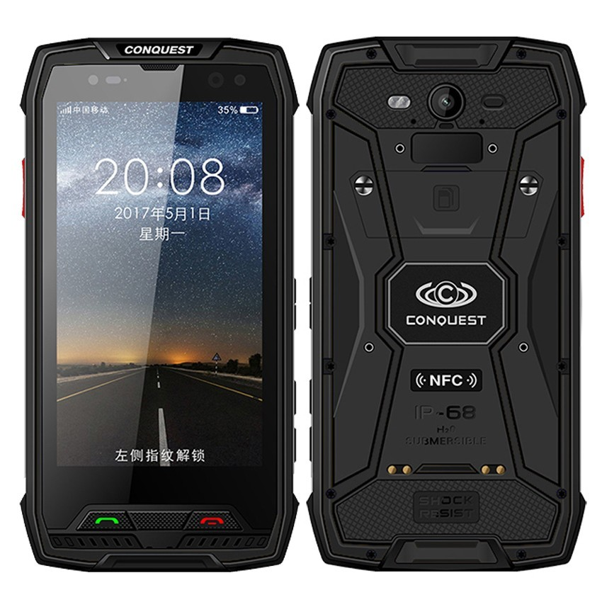 Conquest S11 <font><b>7000mAh</b></font> NFC OTG IP68 Shockproof 4G <font><b>Smartphone</b></font> Android 7.0 4GB RAM 64GB 128GB ROM cell phones Rugged mobile Phone image