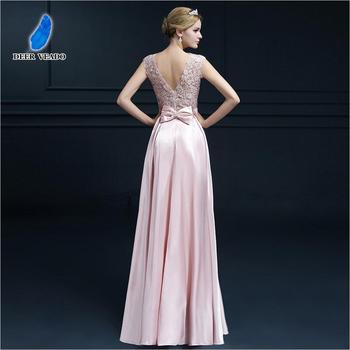 DEERVEADO A-Line Elegant Plus Size Evening Dresses Long Prom Dresses 2019 Evening Gowns Formal Party Dress Robe De Soiree S306 2