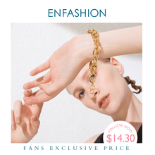 ENFASHION Punk Link Chain Bracelets Bangles For Women Gold C