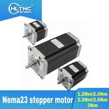 CN/RU/EU Nema23 motor paso a paso 1.2Nm/2.0Nm/2.2Nm/2. Enrutador CNC de 4 ejes, 5Nm/3Nm, 3A, 56mm/76mm/82mm/100mm/112mm de longitud para 3 aixs