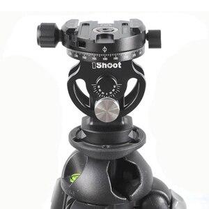 Image 5 - IShoot 2D 360 פנורמי פנורמה כדור ראש עבור מצלמה חצובה חדרגל Ballhead שחרור מהיר צלחת Monpod ראש 2 דרך