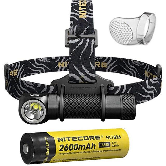 Original Nitecore HC33 Headlight CREE XHP35 LED 1800 lumens High Performance Headlamp+Nitecore 3500mah 18650 battery