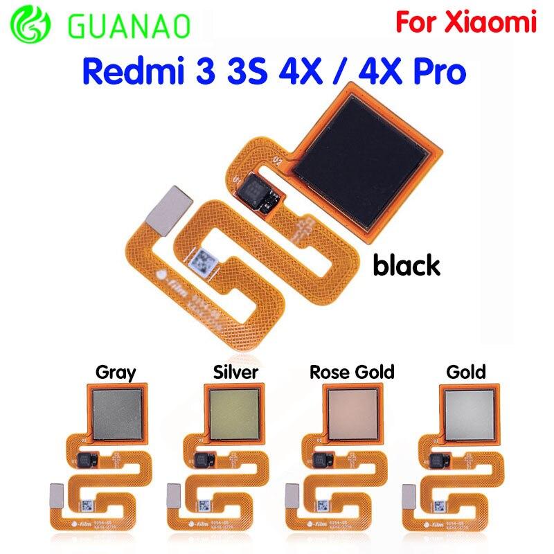 ORIGINAL Fingerprint Sensor Flex Cable For Xiaomi Redmi 3 3S 4X / 4X Pro Finger ID Touch Flex Cable Replacement Tap Parts