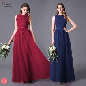 Image 1 - Evening Dress A line High Neck Long Dress Floor Length Sleeveless Chiffon Elegant Evening Party Gowns Appliques Wedding Guest
