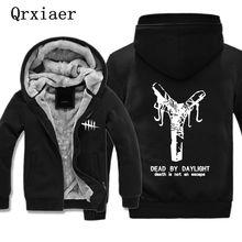 Men Jacket Coat Print Dead Game Shirt By Daylight Hip Hop Boy Sweatshirt Cashmere Cotton Warm Thick Hoodie Winter