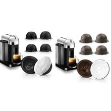 Pods Coffee-Capsules Vertuoplus Nespresso for Gca1-Machine with 60pc-Foil-Lids 3PC Refillable