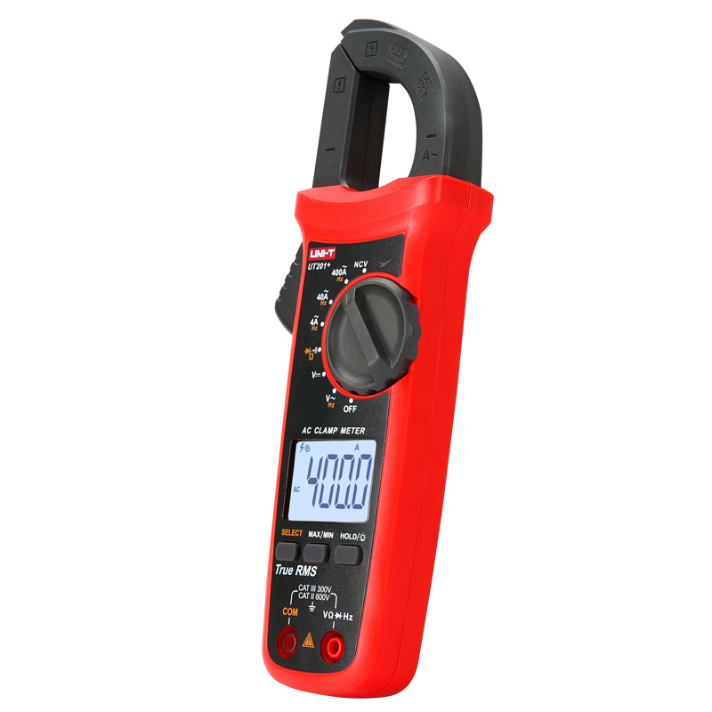 Tools : UNI-T ut204 series True RMS Digital clamp meter AC   DC Clamp ammeters temperature capacitance resistance Voltage tester LCD NCV