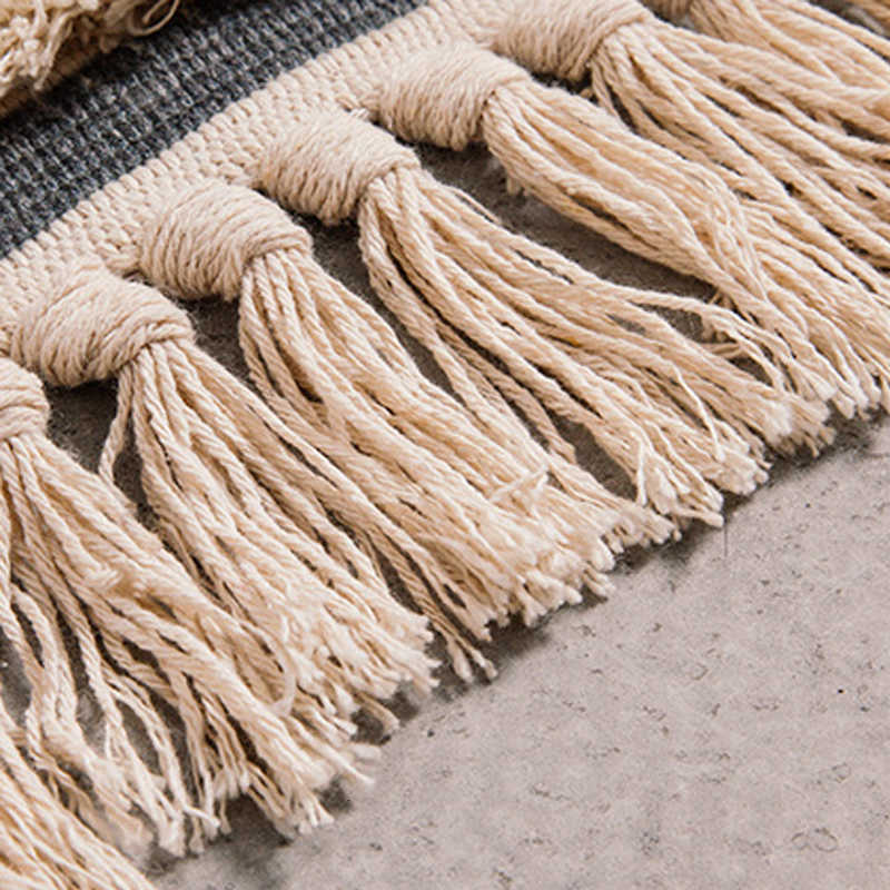 Marrocos algodão mão tecido impresso área tapetes tufados borlas jogar tapete máquina lavável tapete de banho capacho tapete tapete para sala