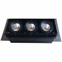 Lámpara de rejilla LED 2x10W 2x15W 3x10W 20W 30W COB lámparas de techo empotradas LED luces descendentes blanco frío cálido 85-265V 10 piezas