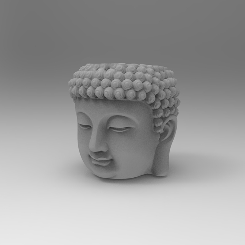 Cement Buddha flowerpot mold Buddha's head designed concrete plaster potted silicone mold Decorative flowerpot mold