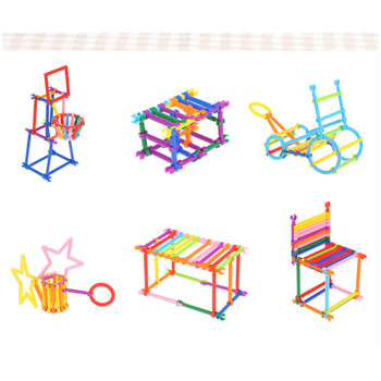 800pcs DIY Geometry Plug Puzzle Building Clicking Blocks Action Learning Bricks Colorful Building Blocks Toy for Children Play