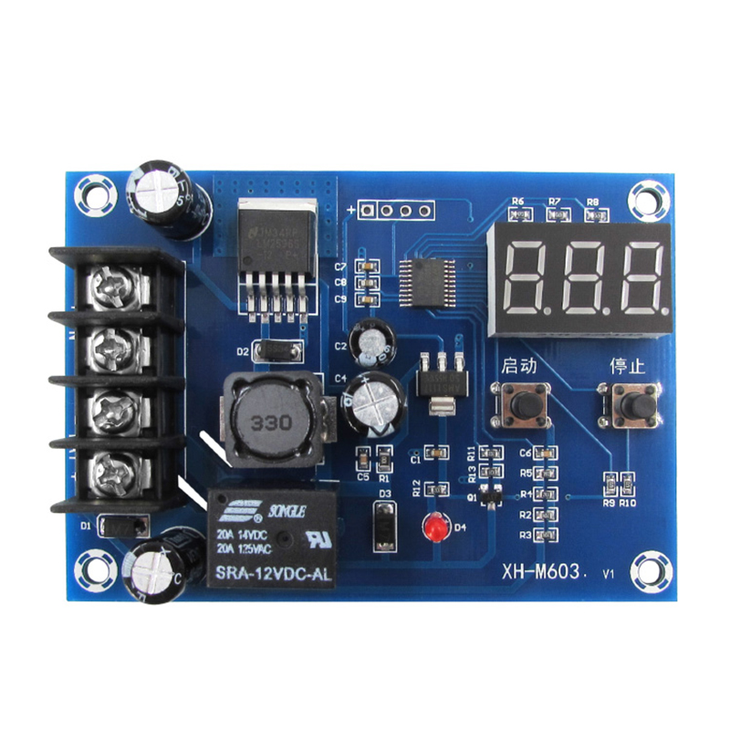 Charging Control Module Digital LED Display Storage Lithium Battery Charger Control Switch Protection Board 12-24V