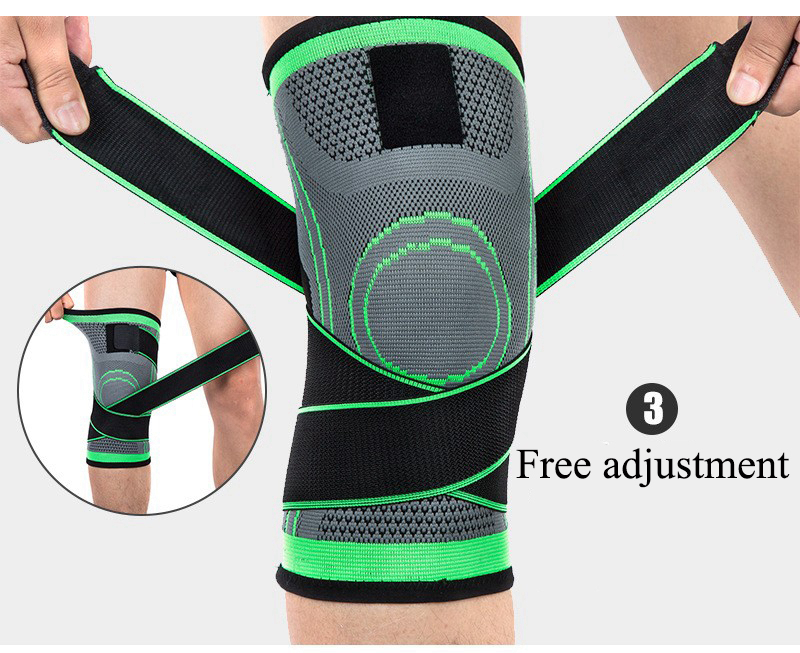 Kneepad Support Professional Protector Sports Knee Pads Breathable Bandage Knee Brace Basketball Tennis Cycling (39)