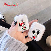 Ultra-thin cute cartoon wireless bluetooth transparent earphone case for Apple Air Pods, Coque protective case shockproof box