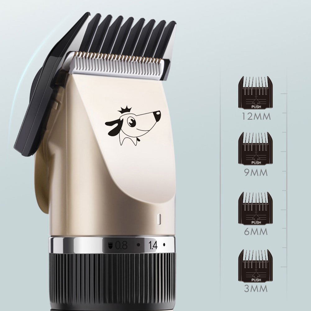 USB Rechargeable Dog Hair Trimmer Pet Hair Remover Cutter Grooming Cat Pet Clipper Rechargeable Low-Noise Pets Hair Cut Machine