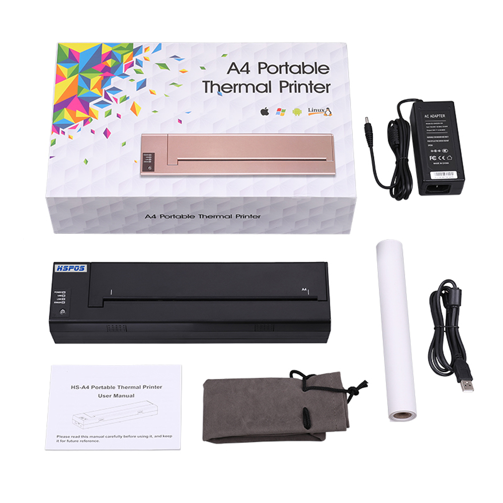 HSPOS najnowsza przenośna drukarka termiczna A4 z akumulatorem do drukowania dokumentów w dowolnym miejscu i czasie