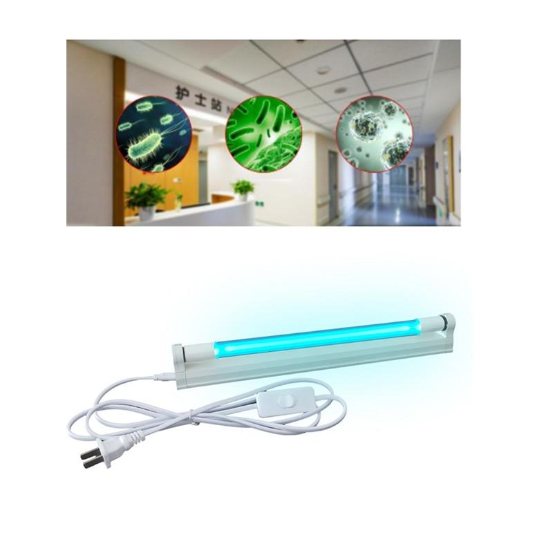 8W 6W T5 Germicidal Sterilizer UV LED Lamp Ultraviolet Quartz Linear Light Ozone Generator Disinfection Deodor Tube For Bedroom