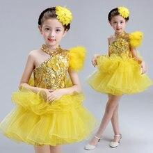 Enfant Robe De Mariage/Детские праздничные платья желтого цвета на одно плечо с бусинами и цветами для девочек; праздничные платья из тюля для маленьких девочек