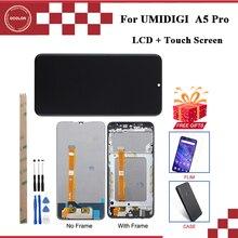 Ocolor עבור UMI Umidigi A5 פרו תצוגת LCD והרכבת מסך מגע עבור Umidigi A5 פרו מסך + כלים + דבק עם מסגרת סרט