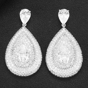 Image 3 - GODKI 2020 Red Carpet Famous Brand Waterdrop Earrings For Women BOHO Crystal CZ Drop Earrings Brincos Fashion Tortoise Jewelry
