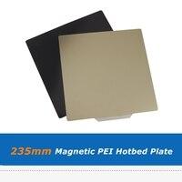 1 conjunto de 235*235mm pei placa de aço flexível etiqueta magnética cama aquecida para creality ender 3/ender 5 peças da plataforma impressora 3d