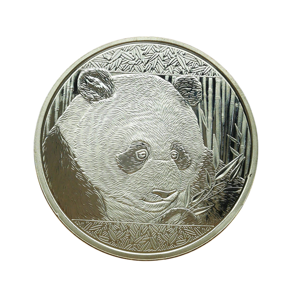 Cute Silver-Plated Panda Baobao Commemorative Coins Collection Art Gift OF
