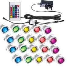 16 шт светодиодный палубный светильник 12 В rgb wifi приложение