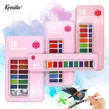 Набор акварельных красок kemila базовые блестящие краски для