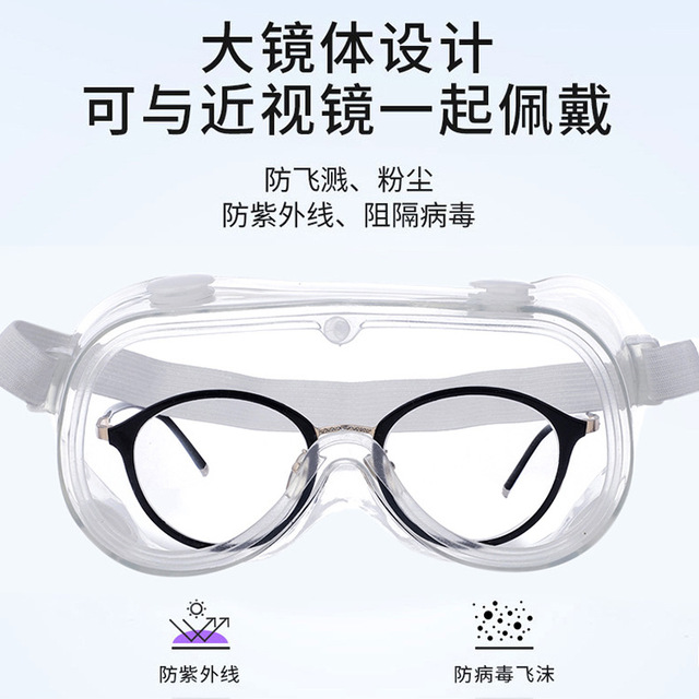 Anti droplet medical glassestransparent protective glasses safety goggles anti-splash wind-proof work safety glasses research
