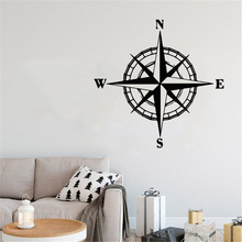 magic world map wallpaper wall stickers for kids rooms bedroom sticker painting poster home decoration accessories Creative Mondo Compass Wall Sticker For Bedroom Decoration Stickers Wallpaper Map of World Compass Wall decals
