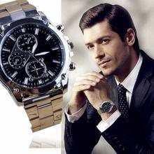 Luxury Men Business Sport Stainless Steel Quartz Analog Wrist Watch