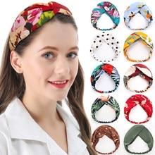 ChenYan-diademas estampadas de colores para mujer, adornos para la cabeza, moda para chicas