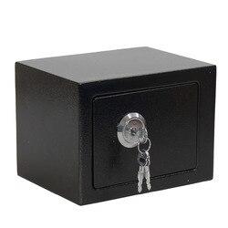 Para la oficina en casa joyería negro nueva llegada profesional y duradero fuerte de acero de hierro operado con llave de seguridad dinero caja de seguridad