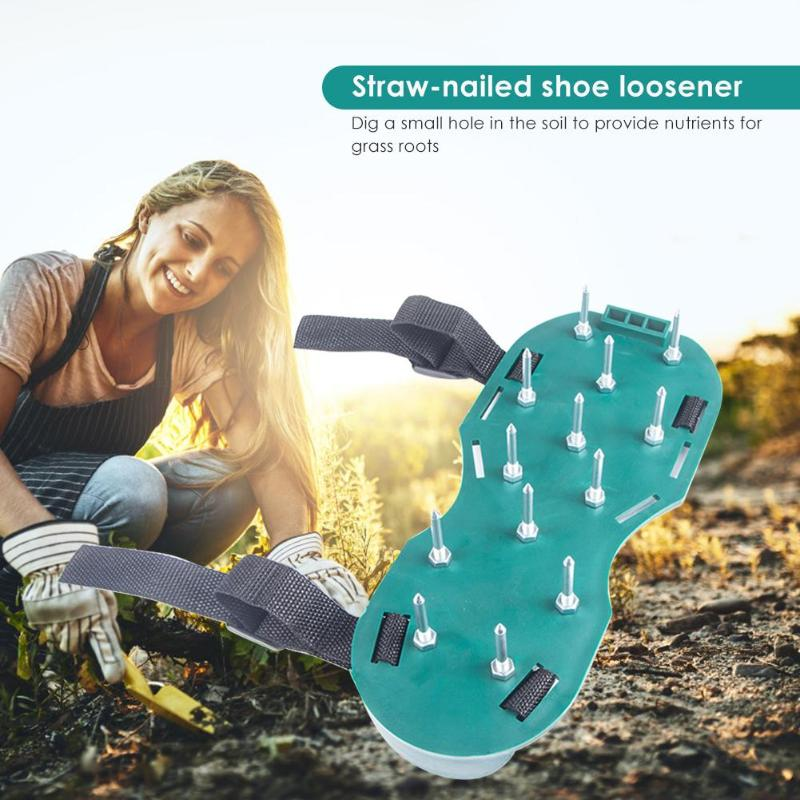 Lawn Aerator Sandals Gardening Floor Paint Self-leveling Cement Construction Nail Shoes Scarifier Grassland Ripper Tool