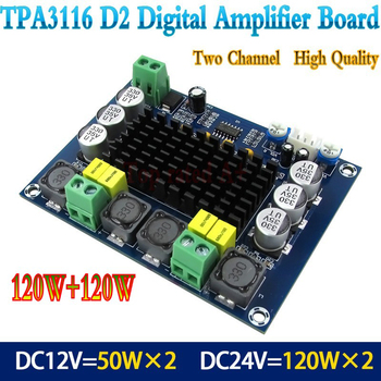Dual-channel Stereo High Power Digital Audio Power Amplifier Board Audio Stereo Digital Amplifier Board 2*100W image