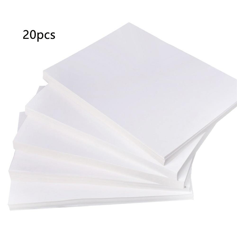 20 Pcs A4 Heat Transfer Paper Image Pyrograph Ironing T Shirt Light Fabric Cloth Painting Practical DIY Vivid Color