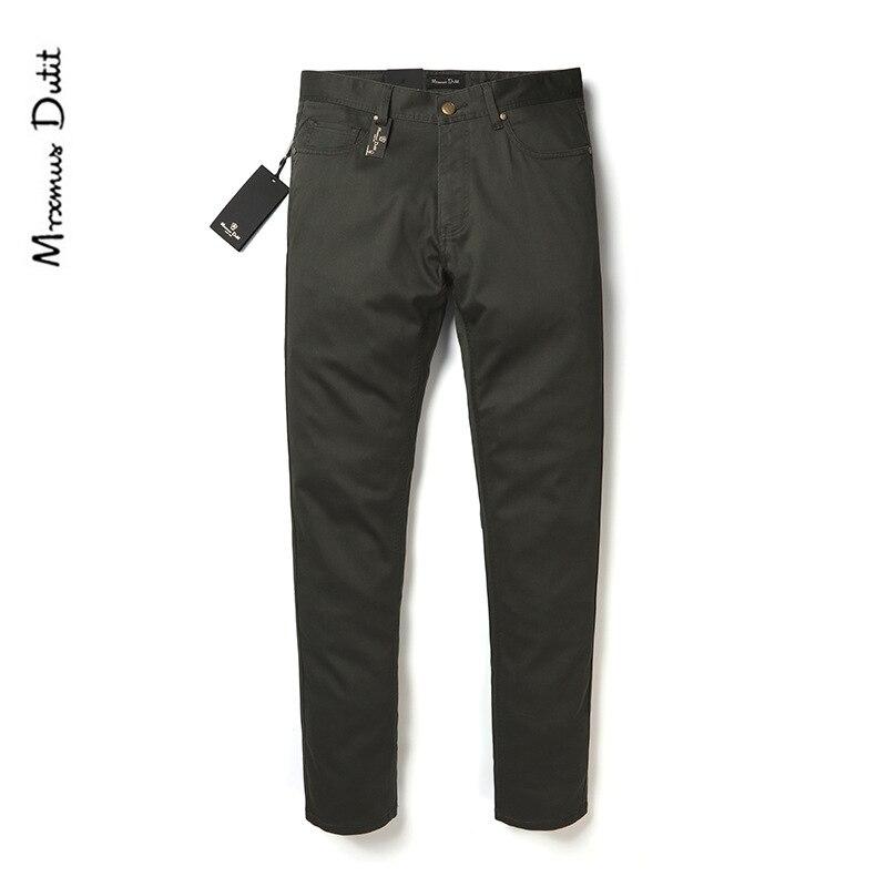 Summer High-End M + D Youth MEN'S Casual Pants Modal Cotton Texture Business Pants Solid Color Slim Fit Straight-leg Pants Men's