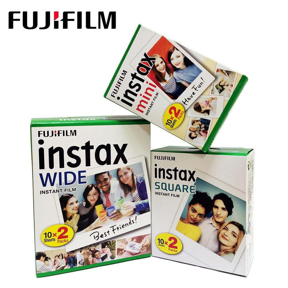 Papel quadrado fujifilm instax, mini filme branco/filme quadrado/filme grande, pacote twin para instax mini 11 9 8 quadrados sq6 sq10 largura 210 300