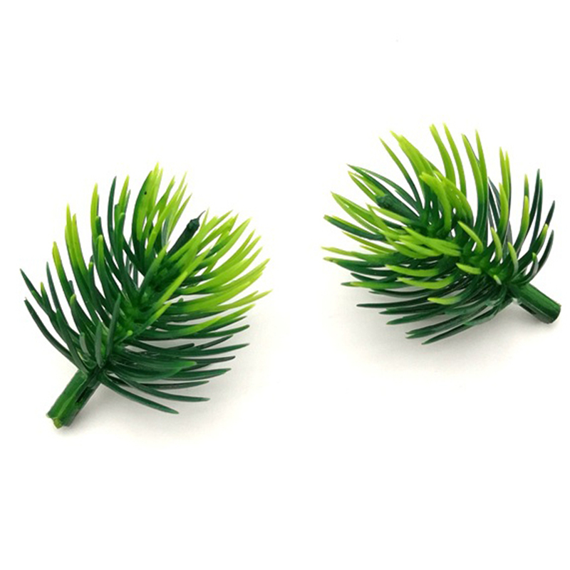 100pcs Artificial Pine Needles Fake Plants Branches Artificial Flowers For Christmas Tree Decorations DIY Accessories
