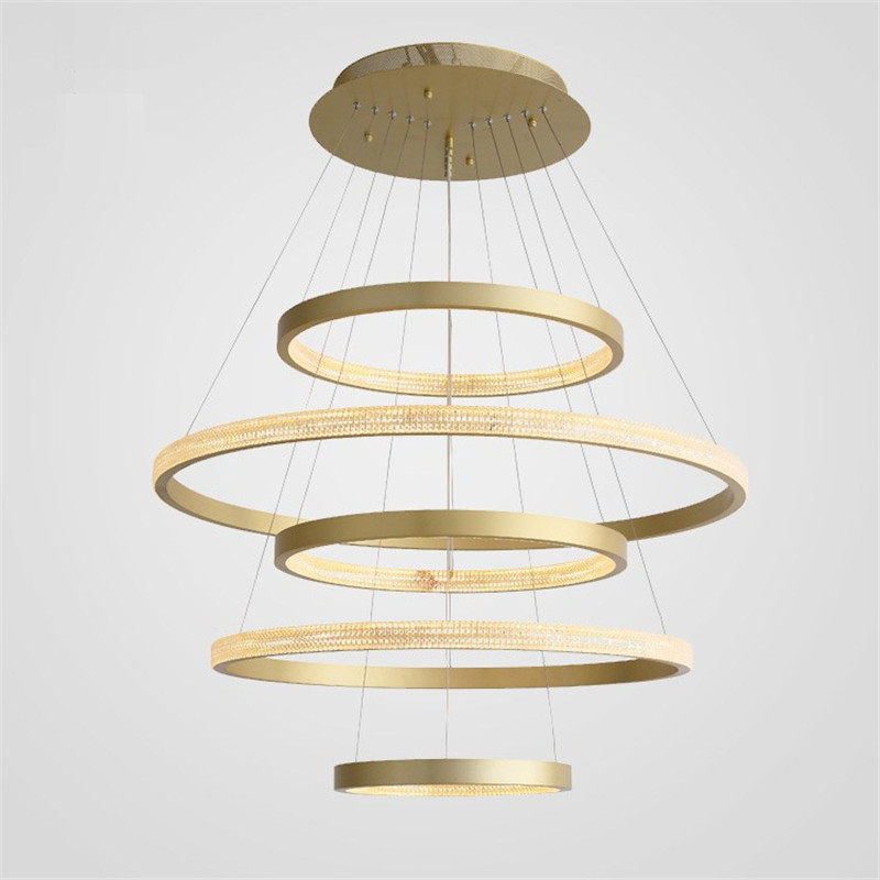 Modern Luxury Pendant Lamps LED Gold Round Pendant Light Chandelier For Hotel Bedroom Living Room Home Decoration Lamp PA0564|Chandeliers| |  - title=